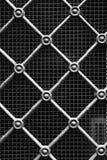 De oude textuur van de metaalpoort Stock Foto's