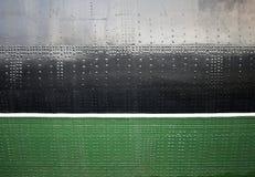 De oude textuur van de schip zwarte en groene schil stock fotografie