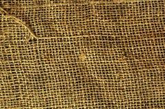 De oude textuur van het de doekcanvas van de grungezak Royalty-vrije Stock Afbeelding