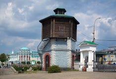 De oude toren van het Water in Yekaterinburg, Rusland Stock Foto's