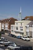 De oude Toren van Portsmouth en van de Spinnaker Stock Foto's