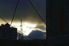 De oude toren van TV Royalty-vrije Stock Foto's