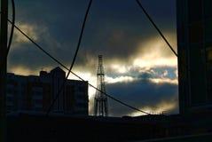 De oude toren van TV Royalty-vrije Stock Foto