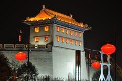 De oude torens van China van Xian stock afbeeldingen