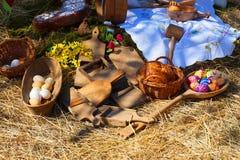 de oude traditie en de decoratie van Pasen stock foto's