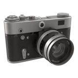 De oude, traditionele camera van filmslr op witte 3D Illustratie Stock Fotografie