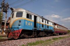 De oude trein. Royalty-vrije Stock Fotografie
