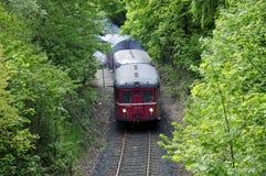 De oude trein Stock Foto's