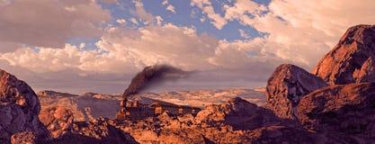 De oude Trein die van het Westen door Utah Rolling Stock Afbeelding