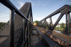 De oude trein in Thailand Stock Afbeeldingen