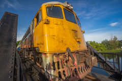 De oude trein in Thailand Royalty-vrije Stock Fotografie