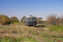 De oude trein van de dieselmotorpassagier Stock Foto's