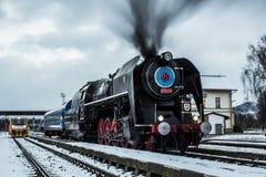 De oude Trein van de Motor van de Stoom royalty-vrije stock fotografie