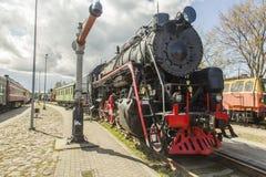 De oude Trein van de Motor van de Stoom Stock Afbeelding