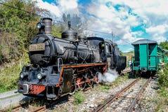De oude Trein van de Motor van de Stoom Stock Foto's