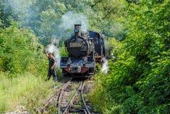 De oude Trein van de Motor van de Stoom Stock Afbeeldingen