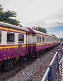 De oude trein van de schaderoest Royalty-vrije Stock Foto
