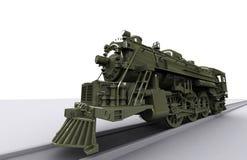 De Oude Trein van Gigant Stock Afbeelding