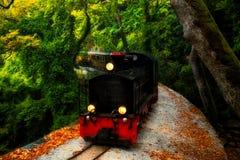 De oude trein van Pelion Stock Afbeeldingen