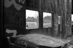 De oude treinwagen Stock Afbeelding
