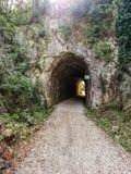 De oude Tunnel van de Spoorfiets Stock Afbeelding