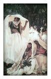 De oude Turkse dames in een tuin royalty-vrije illustratie