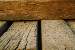De oude uitstekende houten achtergrond van de vernauwingstextuur Royalty-vrije Stock Afbeeldingen