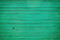 De oude uitstekende houten planken met smaragdgroene kleur schilderen, muurhout voor achtergrond Stock Afbeelding