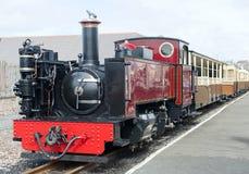 De oude Uitstekende Motor van de Spoorweg van de Stoom stock afbeelding
