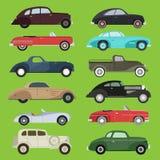 De oude uitstekende retro vector oude van de het voertuig automobiele exclusieve sport van de stijlauto van de het vervoer antiek vector illustratie