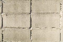 De oude Uitstekende witte achtergrond van de bakstenen muurtextuur Royalty-vrije Stock Foto
