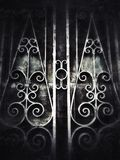 de oude van het de deur uitstekende lichteffect van de textuurmuur donkere achtergrond Royalty-vrije Stock Foto