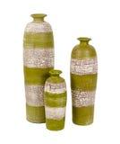 De oude vazen van de blikkenklei Stock Foto