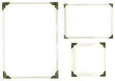 De oude Vector van Fotohoeken Stock Afbeelding