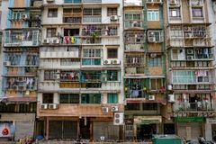 De oude vensters van Macao royalty-vrije stock fotografie