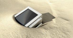 De oude Vergeten Monitor van de Computer stock illustratie