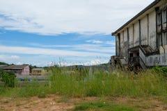 De oude verlaten bioskoopbouw Royalty-vrije Stock Foto