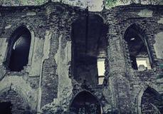 De oude verlaten bouw Stock Afbeeldingen