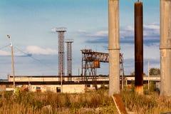 De oude verlaten industrie Royalty-vrije Stock Afbeelding