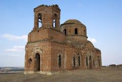 De oude vernietigde kerk. rostov-op-trekt, Rusland aan. Royalty-vrije Stock Fotografie