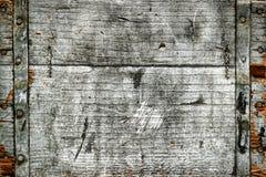 De oude Verontruste Antieke Houten Achtergrond van de Doos Royalty-vrije Stock Foto's