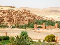 """De Oude Versterkte Stad """"Ait Benhaddou† van Marokko Royalty-vrije Stock Foto's"""