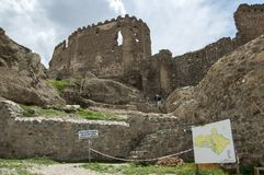 De oude vesting Hoshap, bouw van regeert van het koninkrijk van Urartu Royalty-vrije Stock Foto's