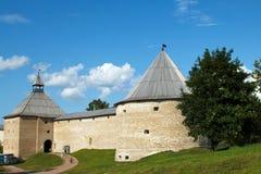 De oude Vesting van Ladoga Rusland middeleeuws Royalty-vrije Stock Afbeeldingen