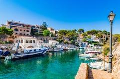De oude vissershaven Cala Figuera van Spanje Majorca Stock Fotografie