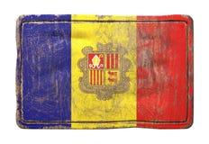 De oude vlag van Andorra stock illustratie