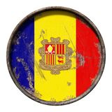 De oude vlag van Andorra vector illustratie
