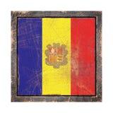 De oude vlag van Andorra royalty-vrije illustratie