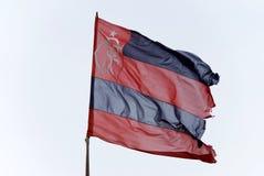 De oude Vlag van het team van het Voetbal Flamengo Stock Afbeelding