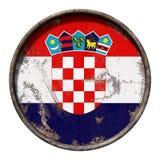 De oude vlag van Kroatië stock illustratie